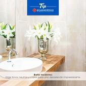 TIP @Ecuacerámica Toca 2 veces la imagen y conoce los tonos que debes elegir para crear un baño único y majestuoso.