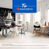 Inspírate en tu espacio de trabajo con @ecuaceramica  Conoce como puedes crear una iluminación perfecta.  #coleccion2021 #colores #tendenciahogar #Pisoparacasa #ceramica #diseño2021 #diseñocasa #estilohogar #moderno #porcelanato
